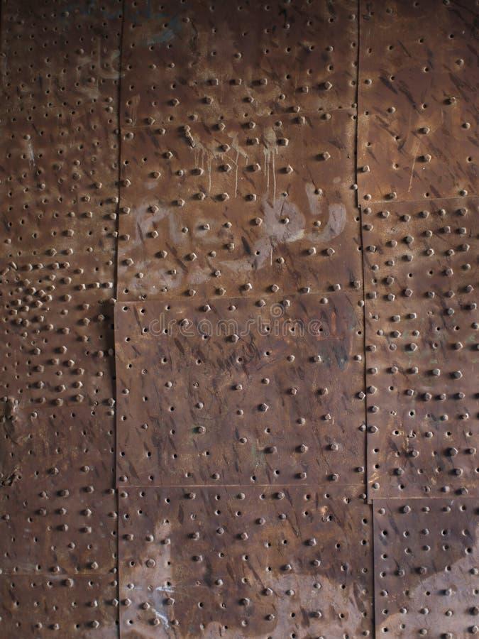 gammal platta för metall royaltyfri bild