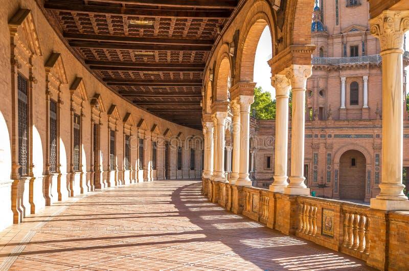 gammal plaza sevilla spain stad de espana för berömd landmark arkivfoton