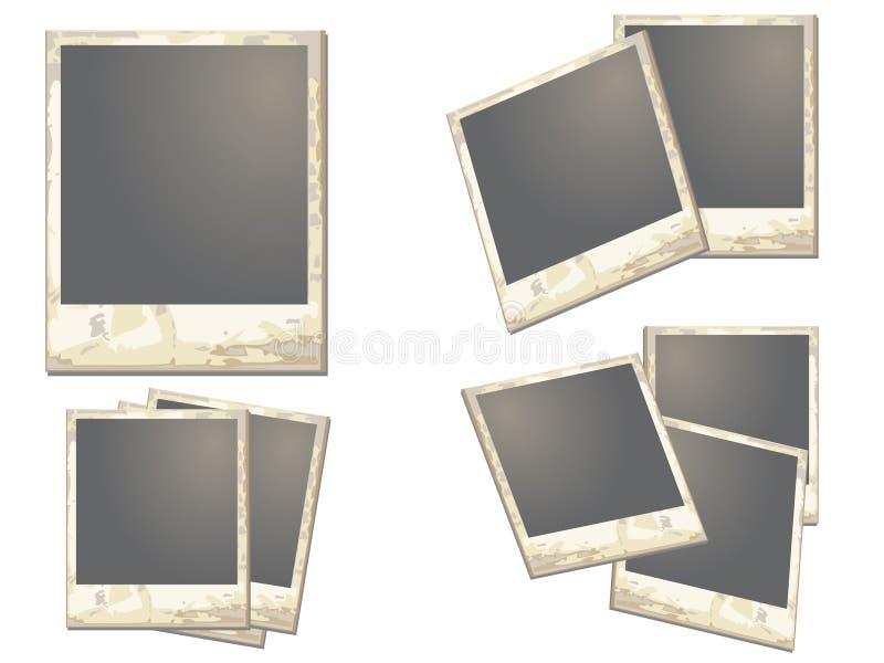 gammal polaroid för ram vektor illustrationer