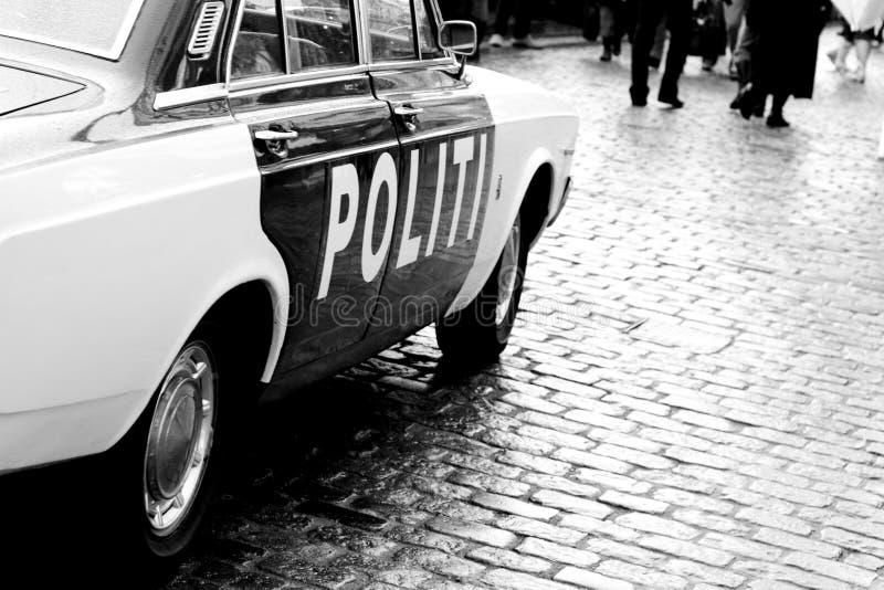 gammal polis för bil royaltyfri fotografi