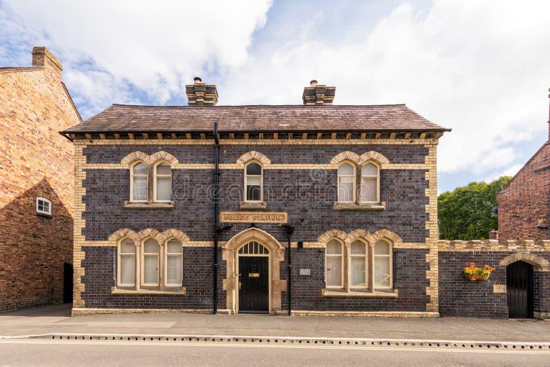 Gammal polisstation, mycket Wenlock, Shropshire arkivbilder
