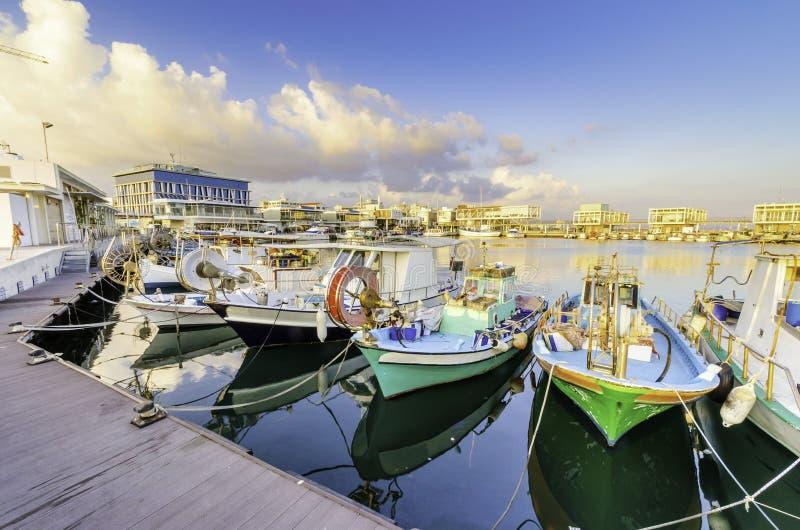 Gammal port, Limassol, Cypern royaltyfria foton