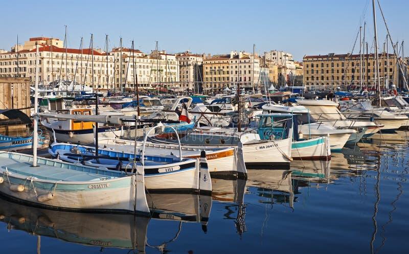 Gammal port, Marseille royaltyfri fotografi
