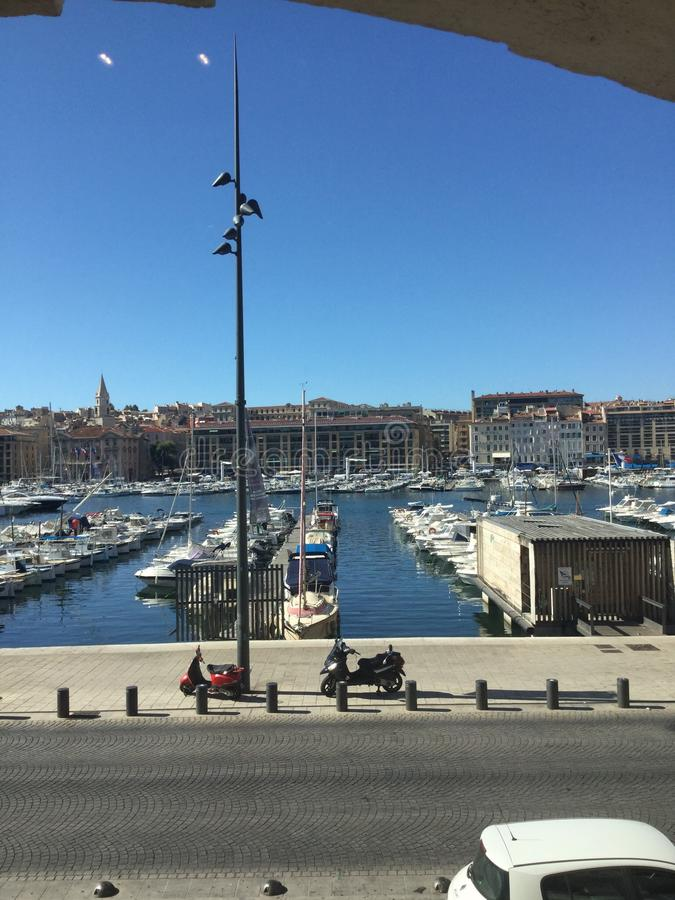 Gammal port Marseille fotografering för bildbyråer