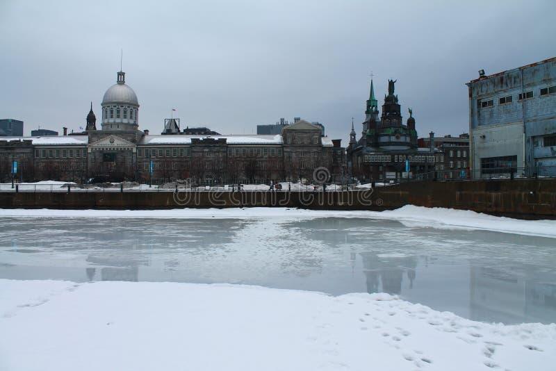 Gammal port Montreal Kanada för Bonesecours marknadsmarché arkivbild
