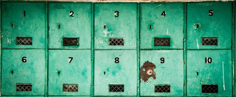 Gammal Postbox arkivfoton