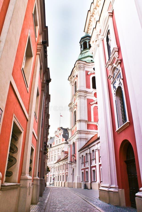 gammal poznan town arkivbilder