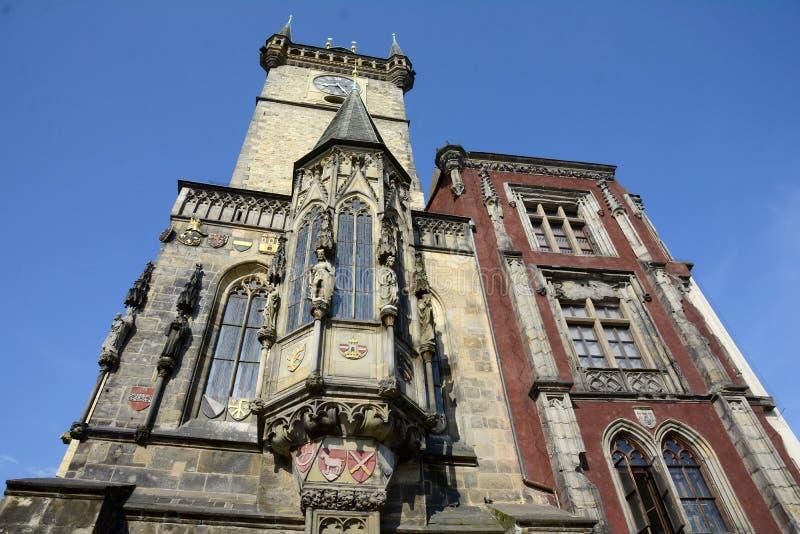 gammal prague f?r korridor town Symbolet av staden Komplexet består av flera hus som är närgränsande till den gamla stadfyrkanten arkivfoto