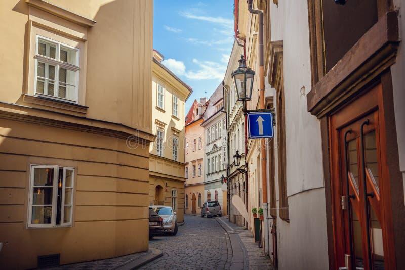gammal prague gata fotografering för bildbyråer
