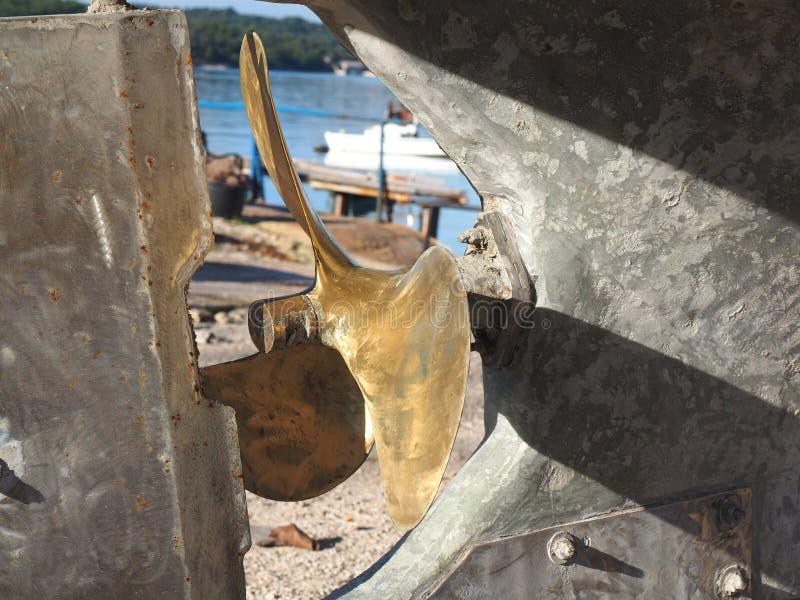 gammal propeller royaltyfria foton