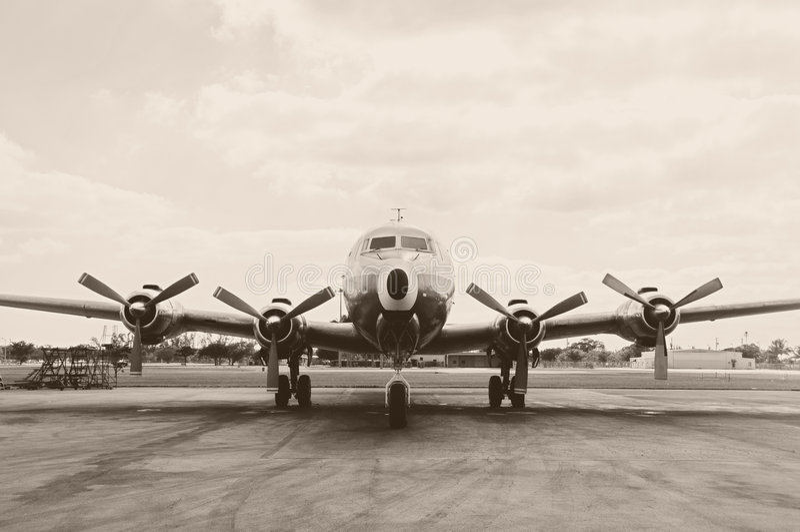 gammal propeller för flygplan fotografering för bildbyråer
