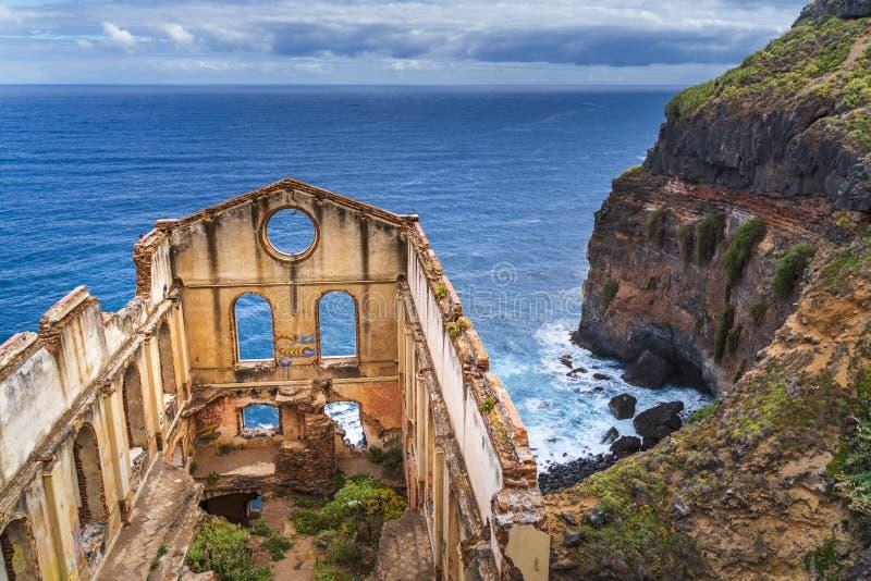 Gammal pumpbyggnad kallade casaen del agua i Tenerife arkivfoton