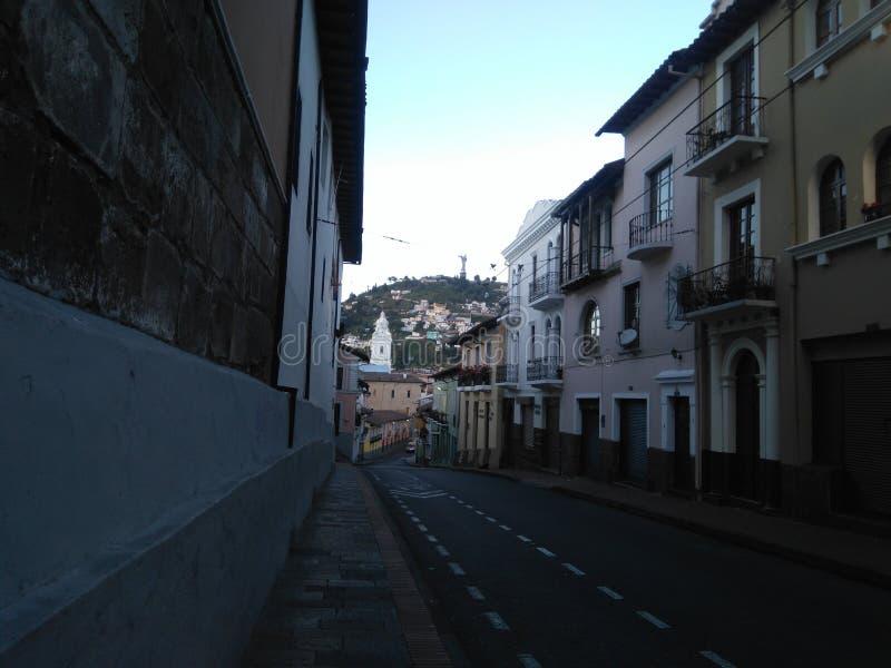 Gammal Quitostad royaltyfri fotografi
