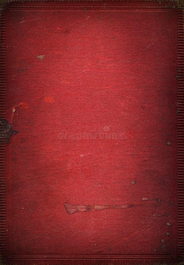 gammal röd textur för bokläder arkivfoton
