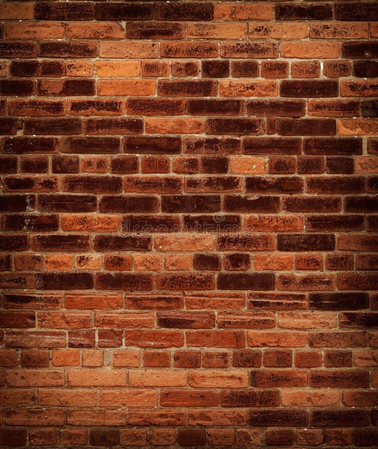 gammal röd vägg för tegelsten royaltyfria bilder