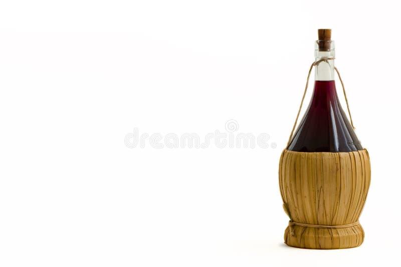 gammal rött vin för flaska royaltyfria bilder