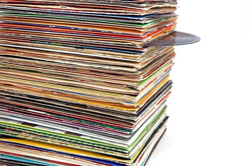 gammal registervinyl arkivbild