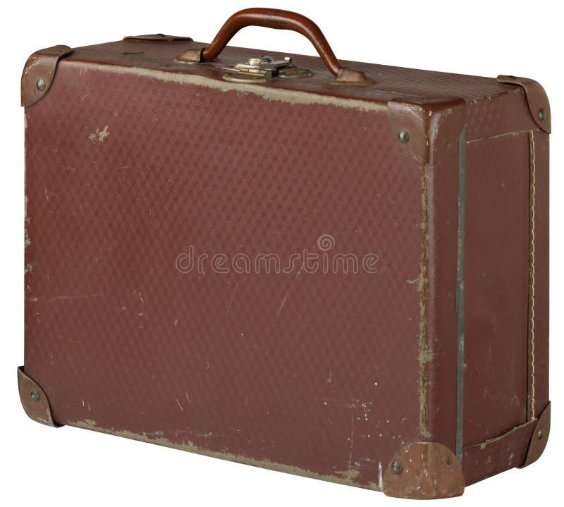 gammal resväska royaltyfria bilder