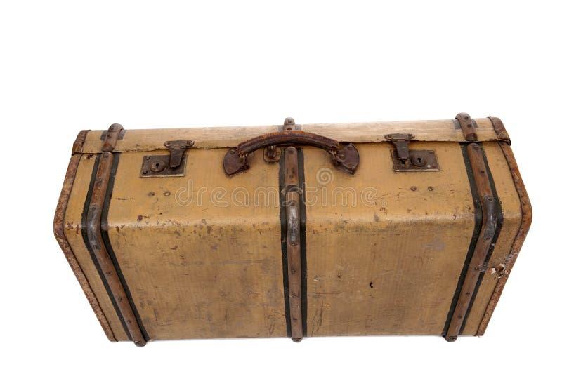 gammal resväskatappning royaltyfri foto