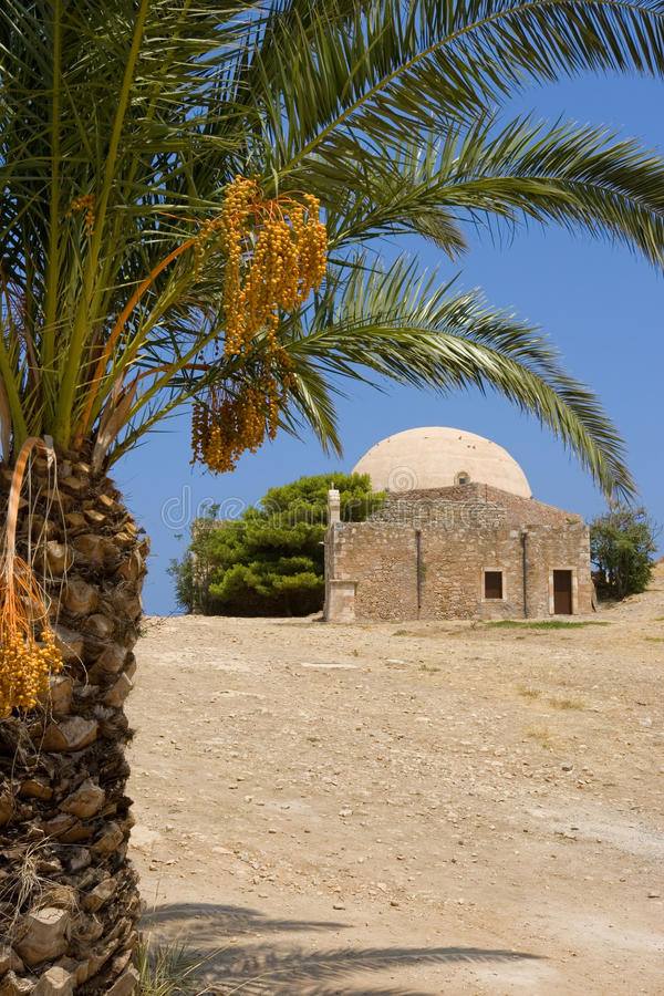 gammal rethymno för crete moské royaltyfri foto