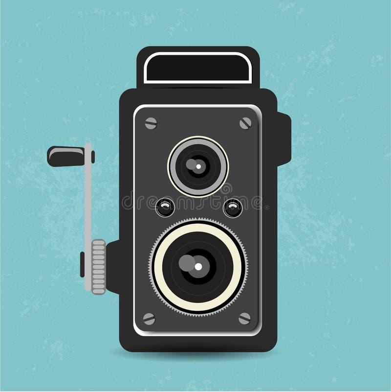 gammal retro kamera stock illustrationer