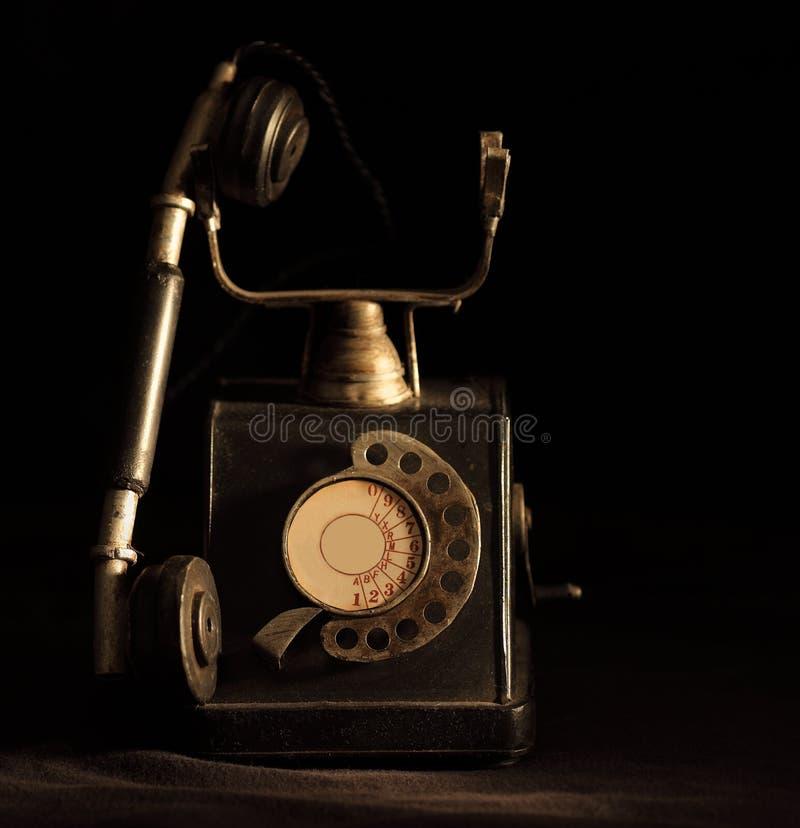 gammal retro telefon royaltyfri fotografi