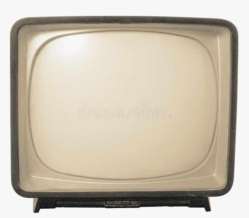 gammal retro televisiontv arkivfoton