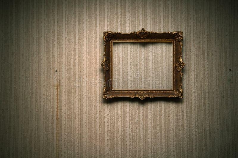 gammal retro vägg för ram royaltyfria bilder