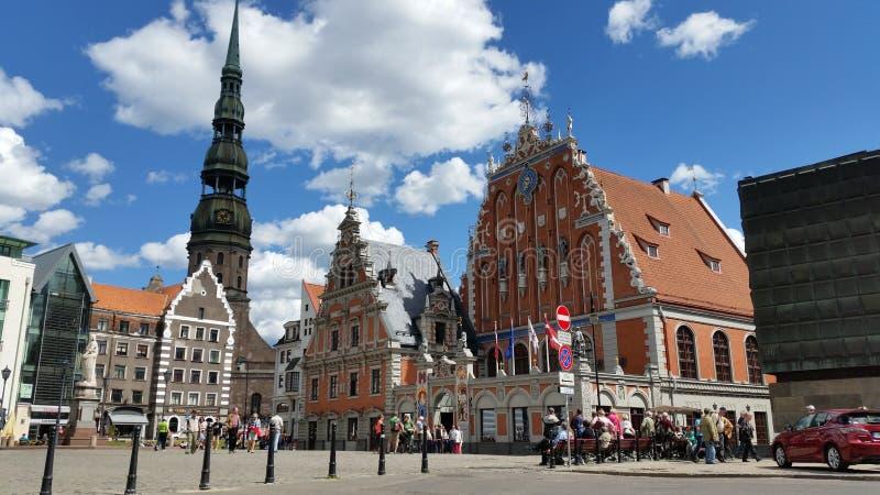 Gammal Riga stad royaltyfri foto
