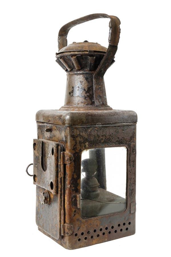 Gammal rostig lampa arkivfoton