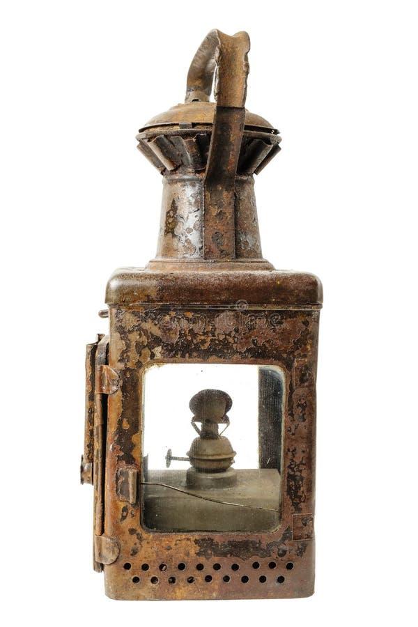 Gammal rostig lampa royaltyfria foton