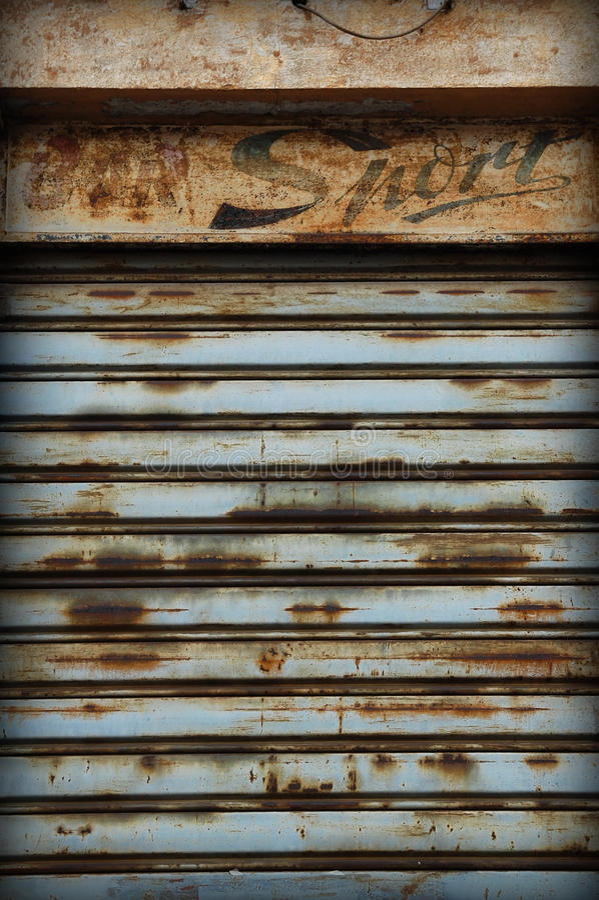 gammal rullningsslutare arkivfoto