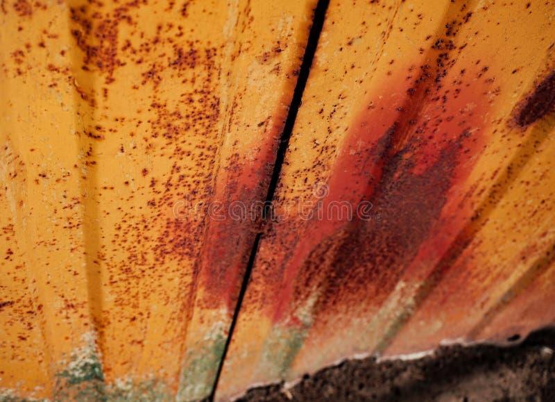 Gammal Rusty Metal Sheet Close Up textur royaltyfri foto