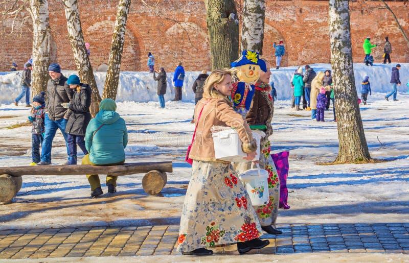 Gammal rysk ferie Maslenitsa arkivbild