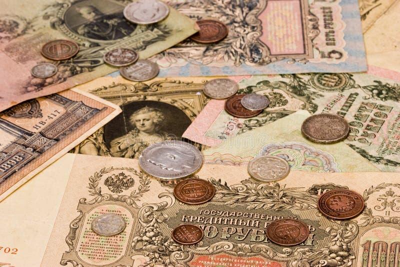 gammal ryss för pengar arkivfoto