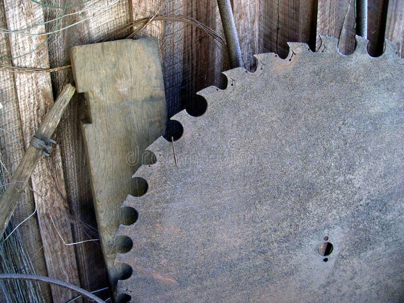 gammal saw för blad arkivbild