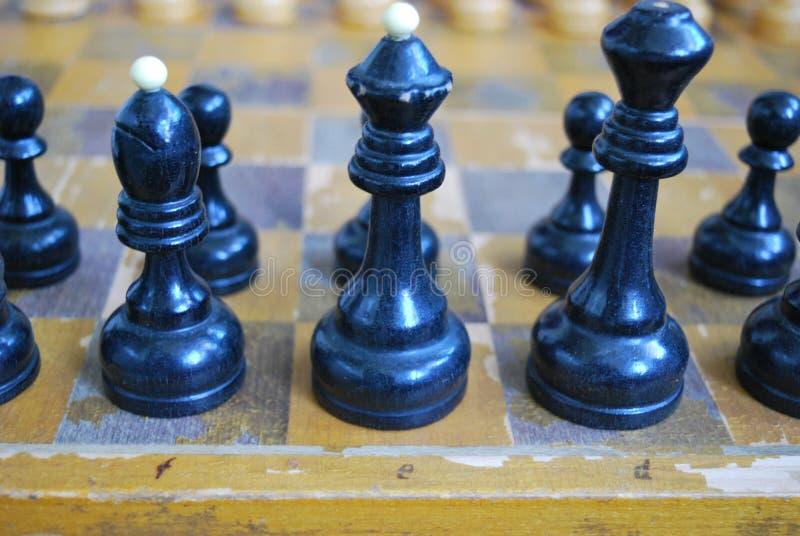Gammal schackbräde arkivbild