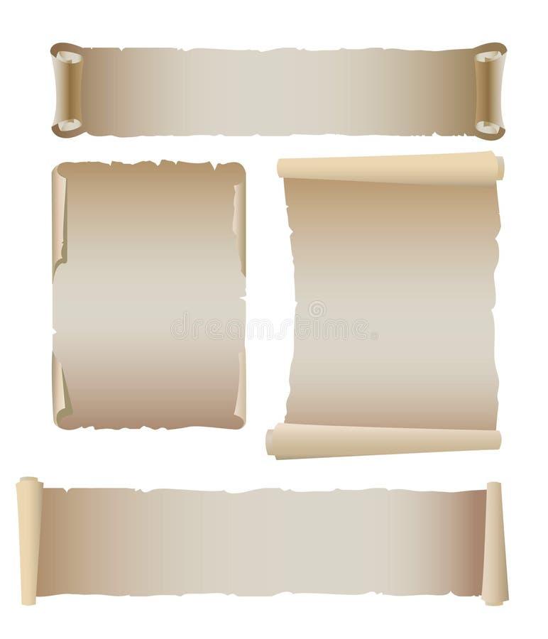 gammal setmall för baner vektor illustrationer