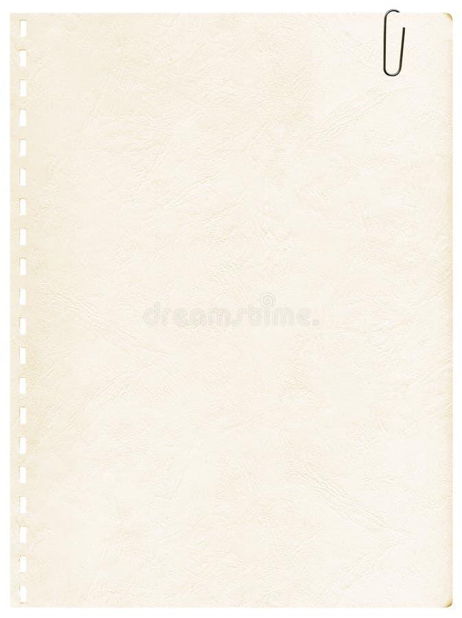 gammal sida för gemanteckningsbok royaltyfria bilder