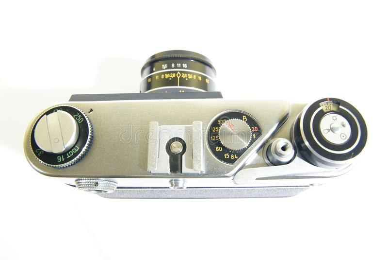 gammal sida för kamera upp arkivbilder