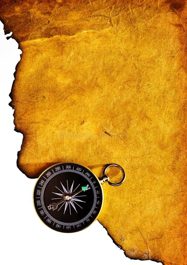 gammal sida för kompass royaltyfri foto