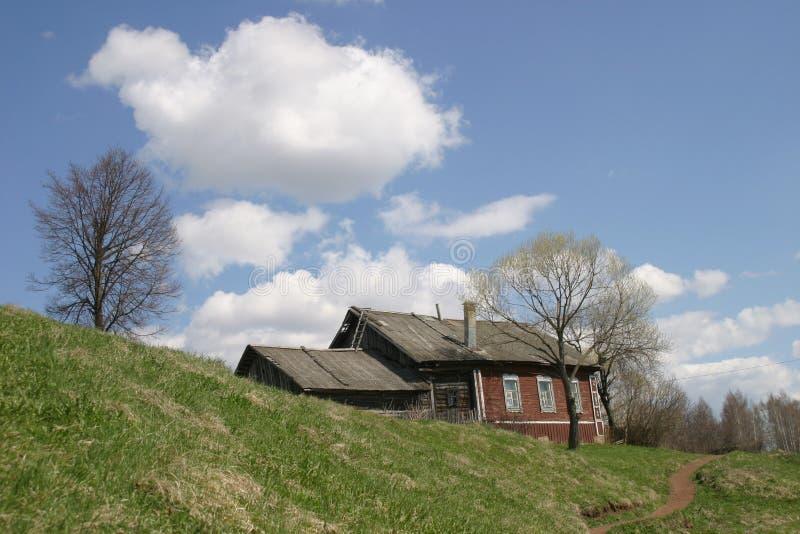 gammal sida för landshus arkivfoto
