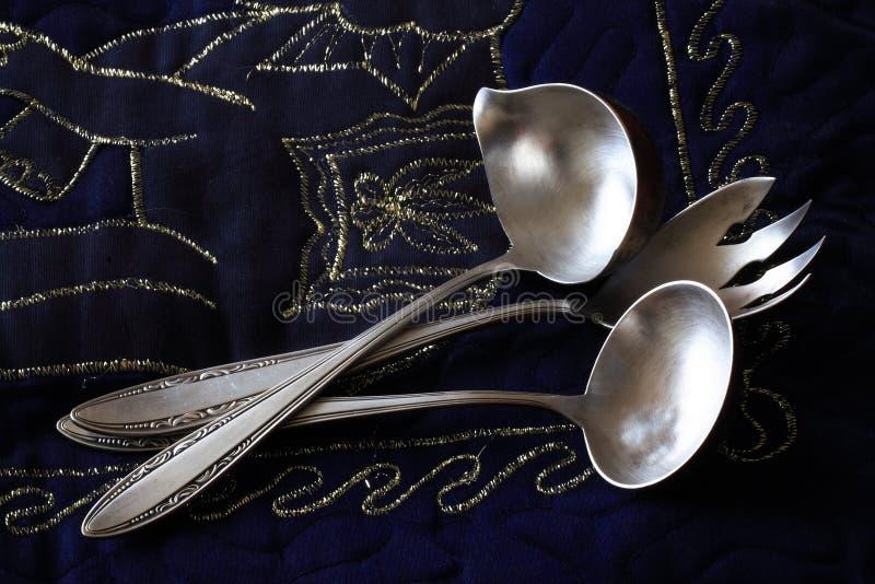 gammal silverware arkivfoto