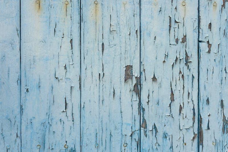 Gammal sjaskig blå trätextur, närbild fotografering för bildbyråer