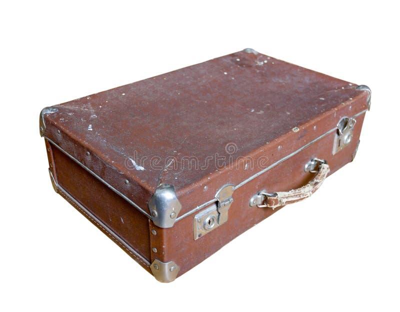 Gammal sjaskig resväska arkivbilder