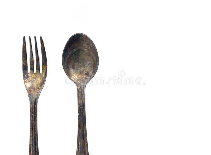 gammal sked för gaffel royaltyfri fotografi