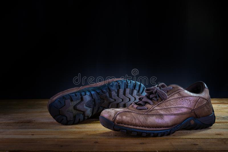 gammal sko arkivbild