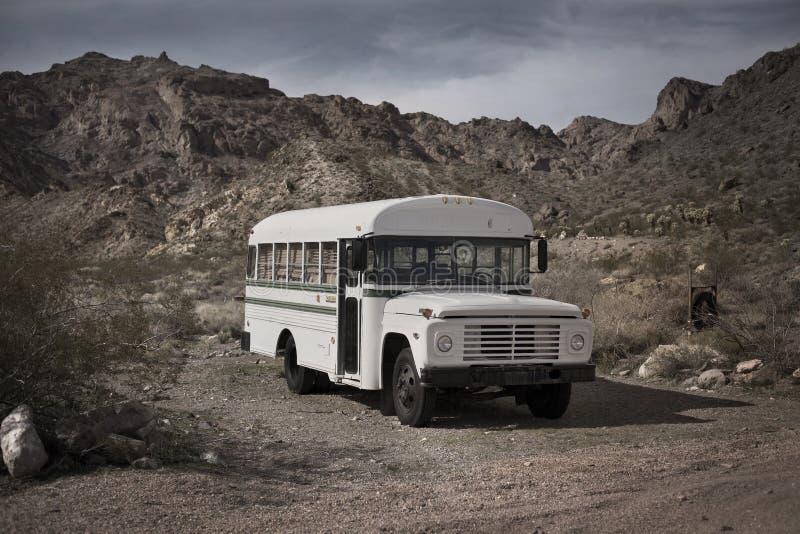 gammal skola för buss royaltyfria foton