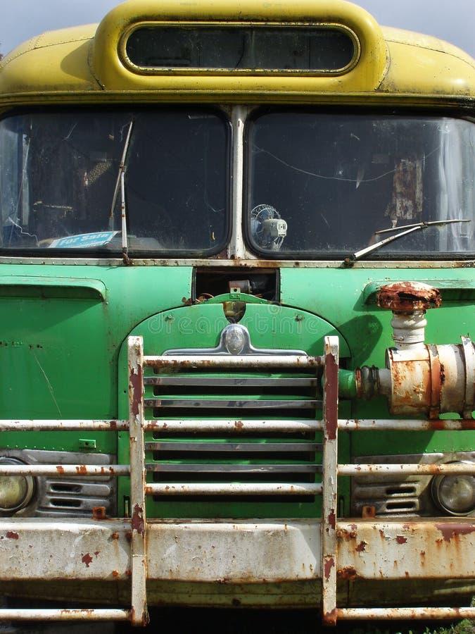 gammal skola för buss royaltyfri bild
