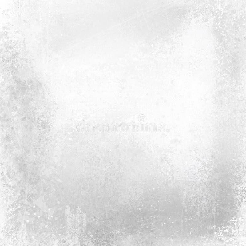 Gammal skrapad vit bakgrund för grunge med målad metalltextur och tappning för svart och för grå färger skalning planlägger stock illustrationer